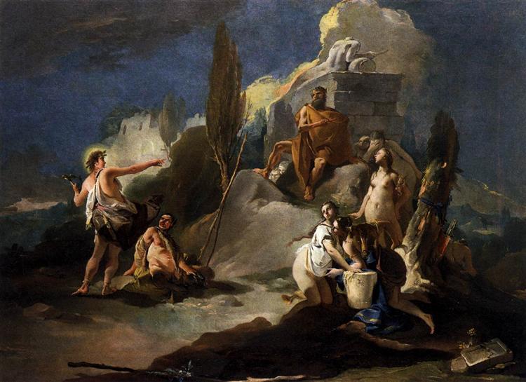 Apollo and Marsyas, c.1725 - Giovanni Battista Tiepolo