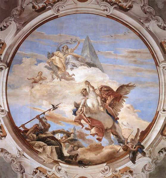Bellerophon on Pegasus, 1746 - 1747 - Giovanni Battista Tiepolo