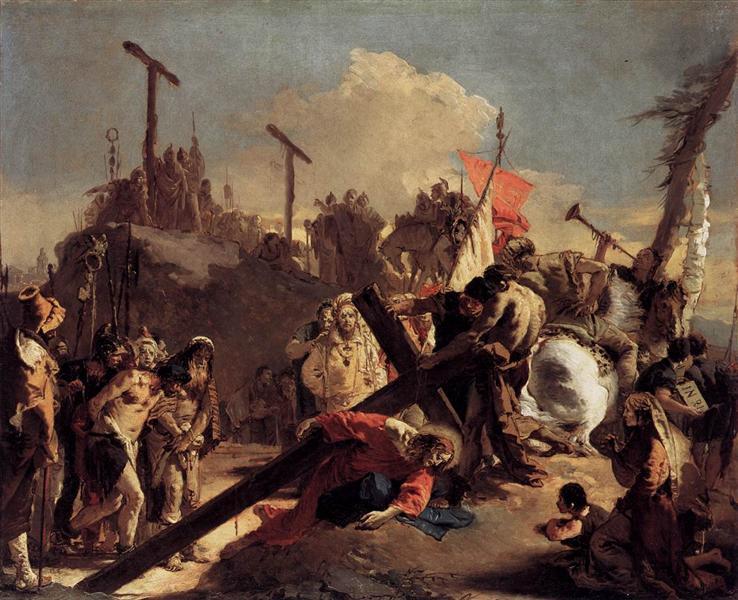 Carrying the Cross, c.1738 - Giovanni Battista Tiepolo