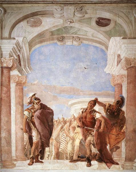 Detail of Agamemnon, from Minerva Restraining Achilles from Killing Agamemnon, 1757 - Giovanni Battista Tiepolo