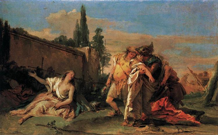 Rinaldo's Departure from Armida, 1755 - 1760 - Giovanni Battista Tiepolo