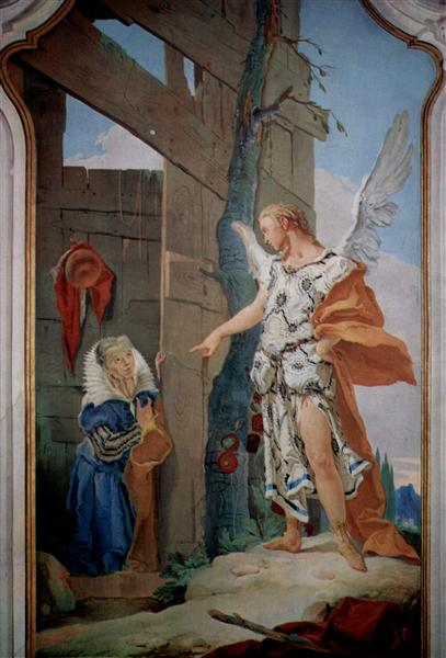 The appearance of the angel before Sarah - Giovanni Battista Tiepolo