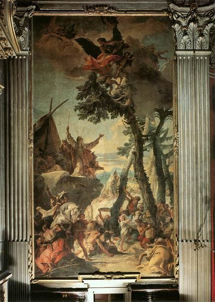 The Gathering of Manna, 1740 - 1742 - Giovanni Battista Tiepolo