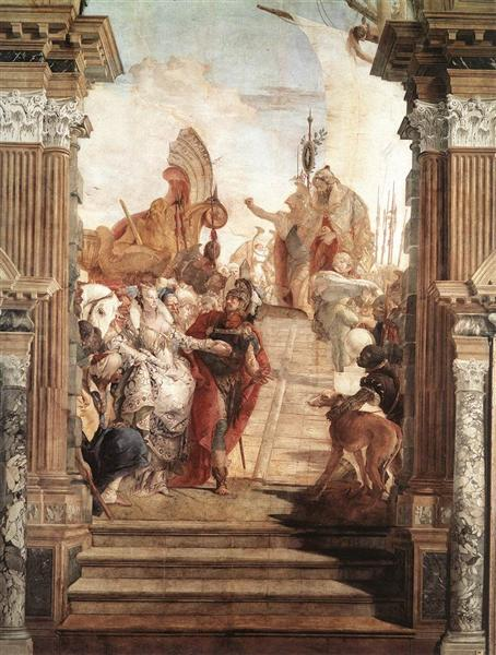 The Meeting of Anthony, 1746 - 1747 - Giovanni Battista Tiepolo