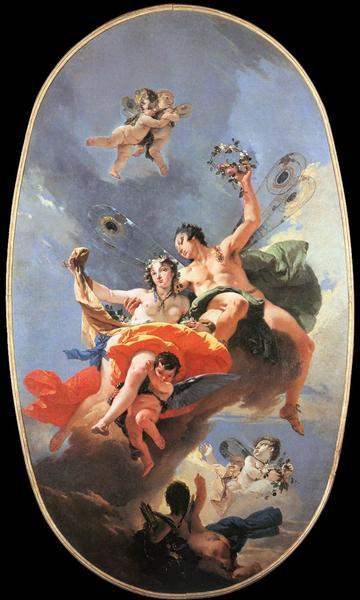 The Triumph of Zephyr and Flora, 1734 - 1735 - Giovanni Battista Tiepolo