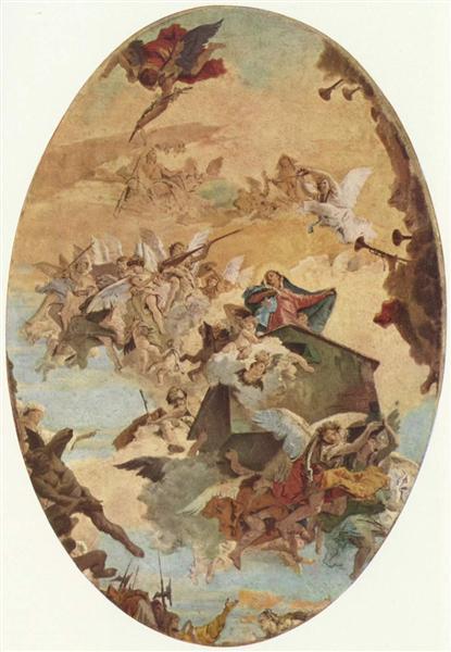 Transportation of the Holy House of Nazareth to Loreto, 1743 - Giovanni Battista Tiepolo