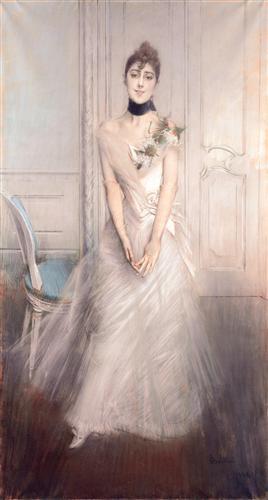 A Portrait of Emiliana Concha de Ossa - Giovanni Boldini