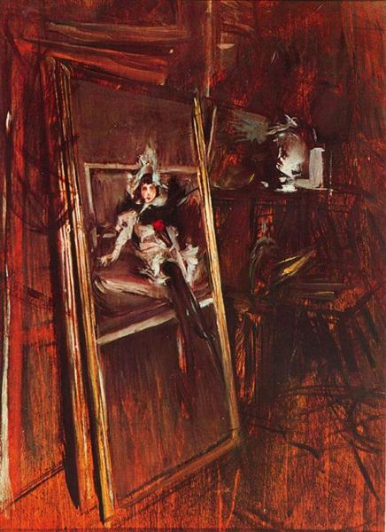 Inside the Studio of the Painter with Errazuriz Damsel, 1892 - Giovanni Boldini