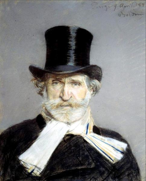 Portrait of Guiseppe Verdi (1813-1901), 1886 - Giovanni Boldini