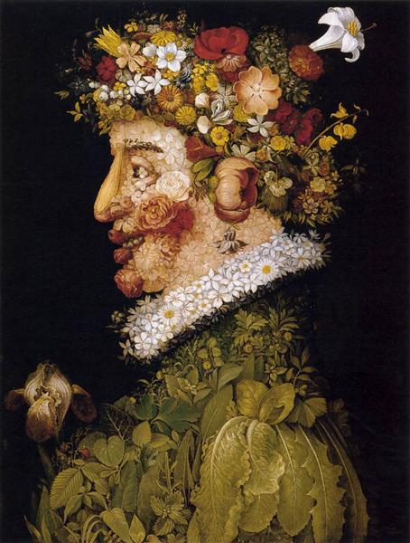 Весна, 1563 - Джузеппе Арчимбольдо