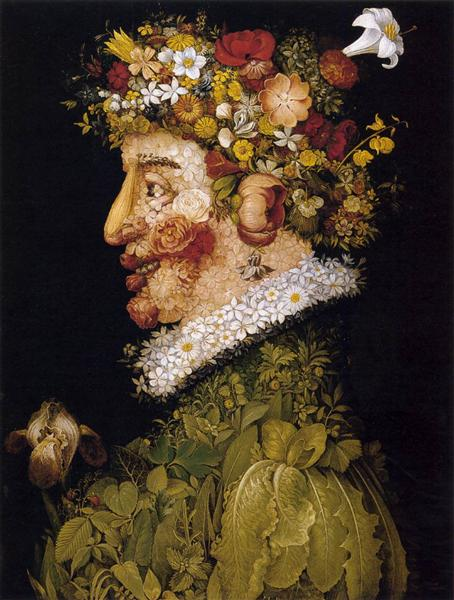 Spring, 1563 - Giuseppe Arcimboldo