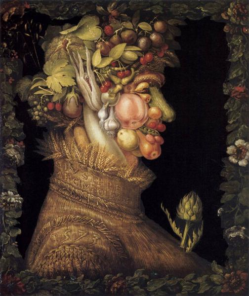 Summer, 1573 - Giuseppe Arcimboldo