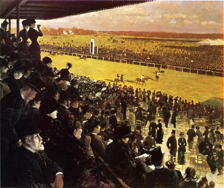 The Races at Longchamps from the Grandstand, 1883 - Giuseppe De Nittis