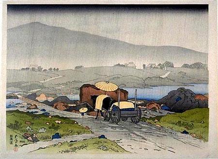 Rain at Yabakei, 1918 - Goyō Hashiguchi