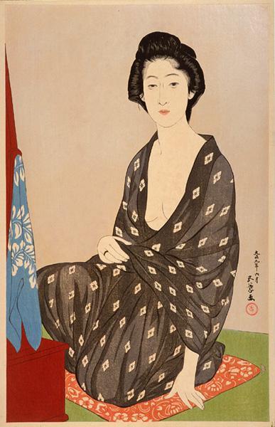 Woman in Summer Garment, 1920 - Goyo Hashiguchi