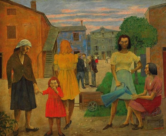 Figures in the Village, 1948 - Grégoire Michonze