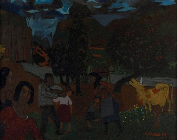 Figures in the Village, 1964 - Grégoire Michonze