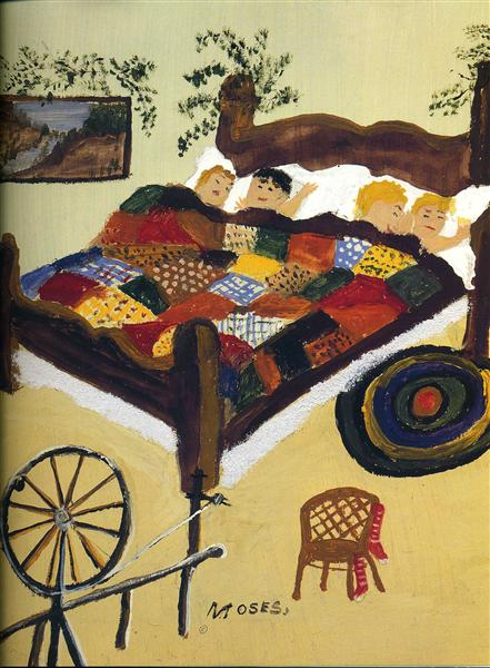 Waiting for Christmas, 1960 - Grandma Moses
