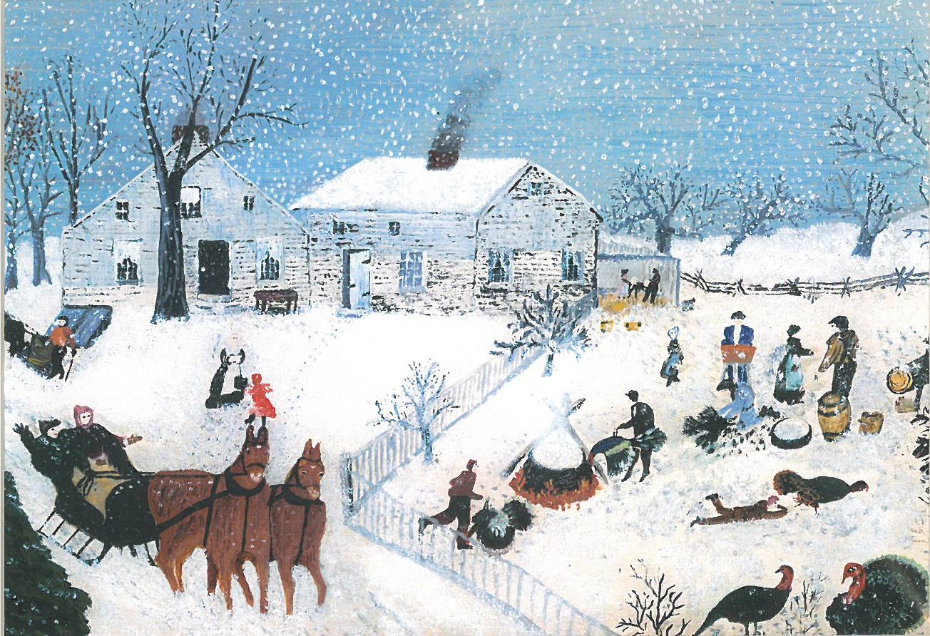 catching the turkey 1940 grandma moses wikiart org