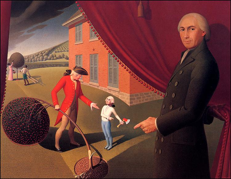 Parson Weem's Fable, 1939 - Grant Wood