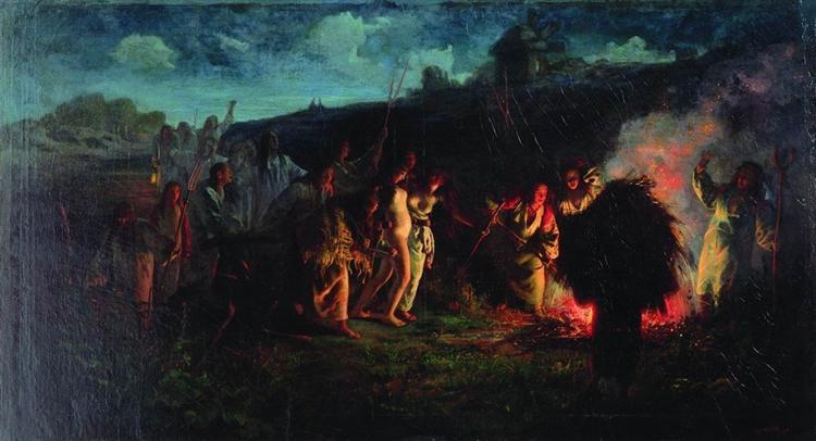 Opahivanie, 1876 - Grigoriy Myasoyedov