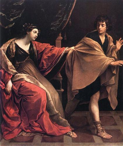 Joseph and Potiphar's Wife  - Guido Reni