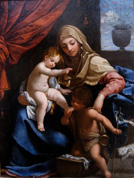 Virgen con el Niño y San Juan Bautista - Reni Guido