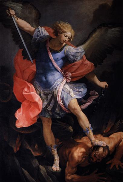 The Archangel Michael defeating Satan, 1635 - Гвидо Рени