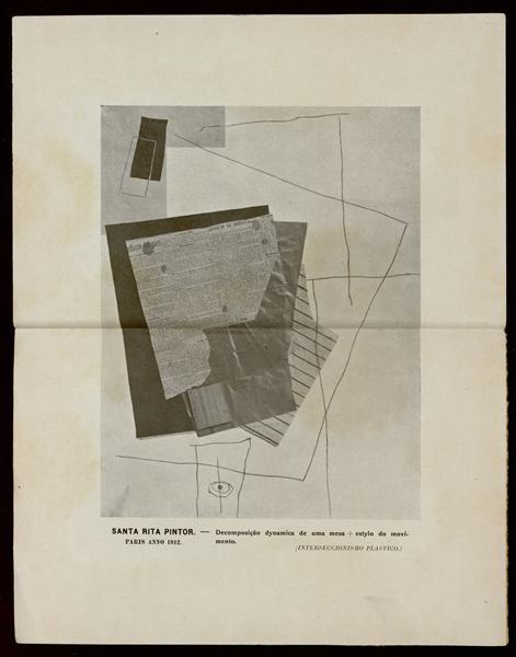 Decomposição dynamica de uma mesa + estylo do movimento (INTERSECCIONISMO PLASTICO), 1912 - Guilherme de Santa-Rita