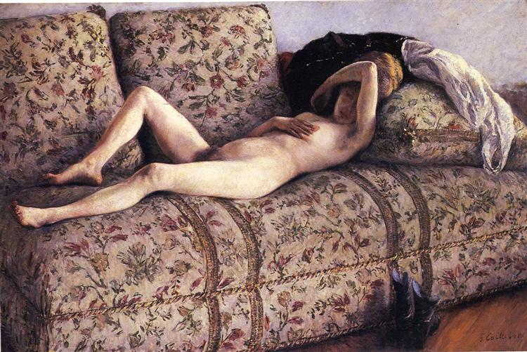 Nude on a Couch, 1890 - Gustave Caillebotte