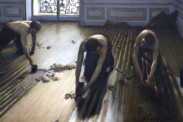 The Parquet Planers (The Floor Scrapers), 1875 - Gustave Caillebotte