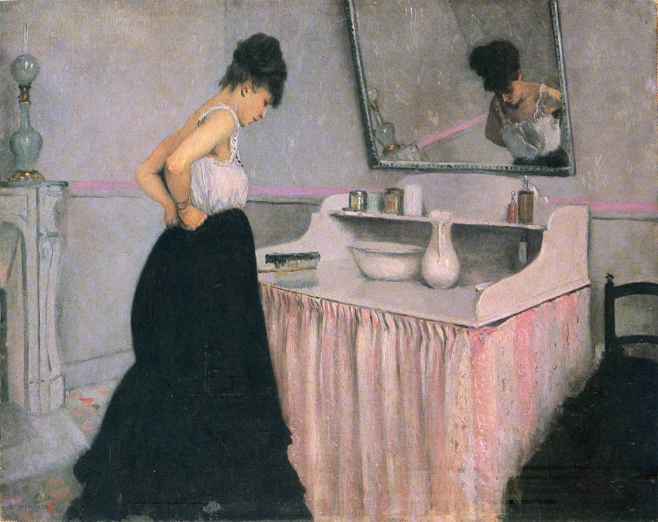 Woman At A Dressing Table Gustave Caillebotte Biblioklept