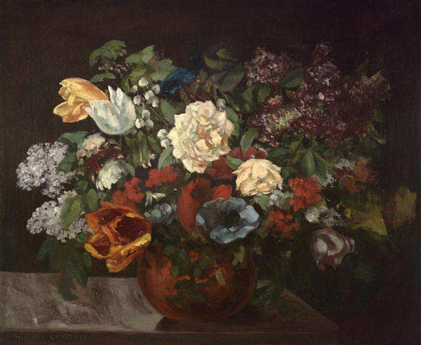 Bouquet of flowers - Gustave Courbet