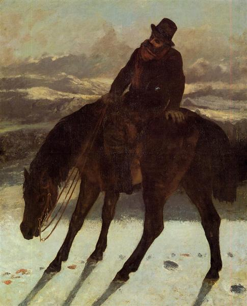Hunter on Horseback, Redcovering the Trail, 1864 - Gustave Courbet