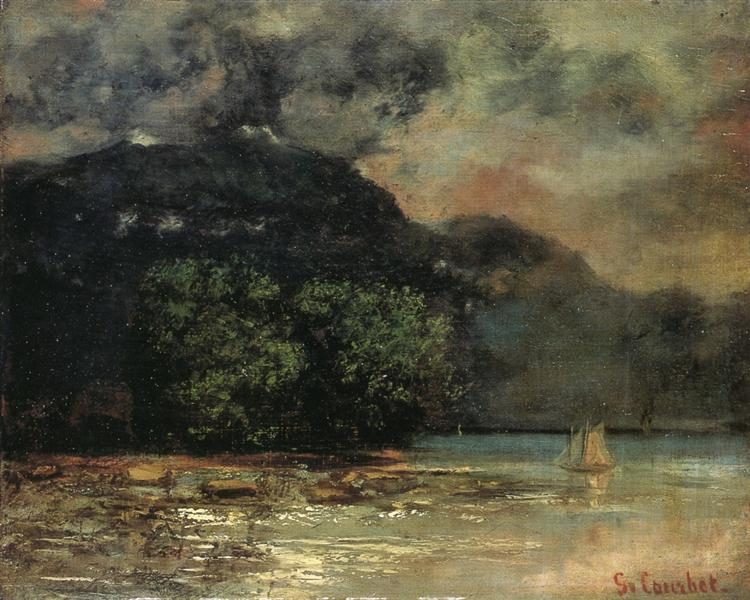 Lake Geneve before the Storm, c.1873 - c.1877 - Gustave Courbet