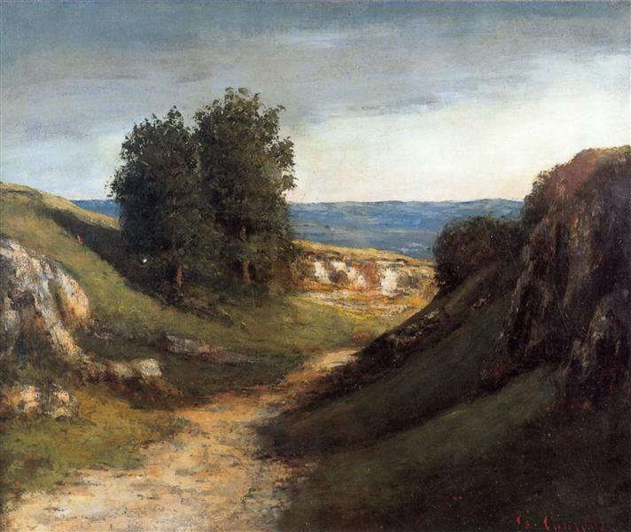 Paysage Guyere, 1874 - 1876 - Gustave Courbet