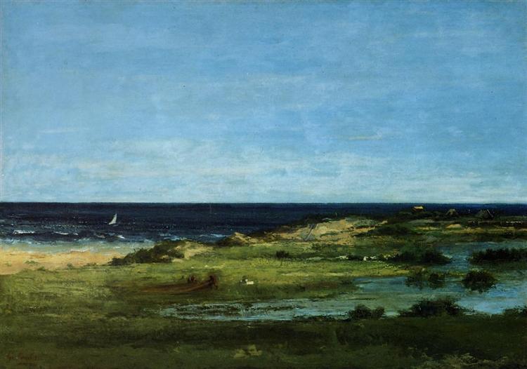 Seacoast (Souvenir of Les Cabanes), 1854 - 1857 - Gustave Courbet