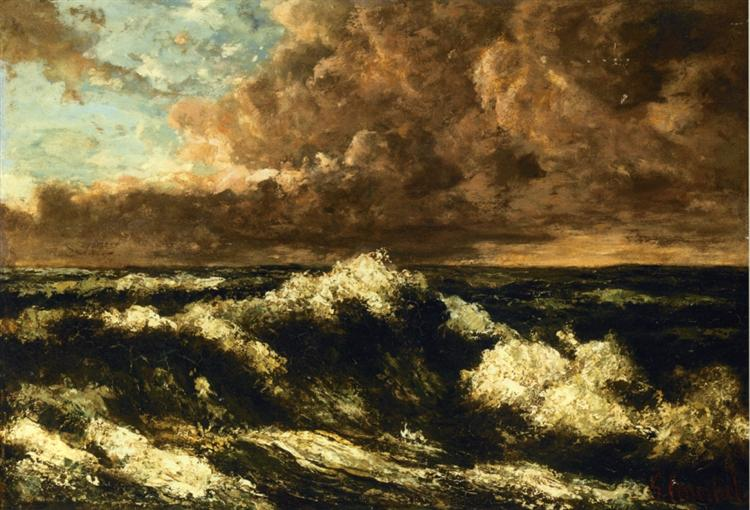 Seascape, c.1870 - Gustave Courbet