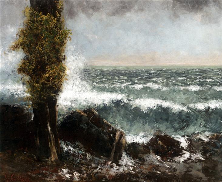 Seascape, the Poplar, c.1873 - Gustave Courbet