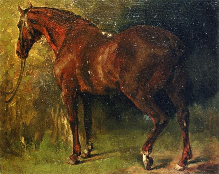 The English Horse of M. Duval - Gustave Courbet