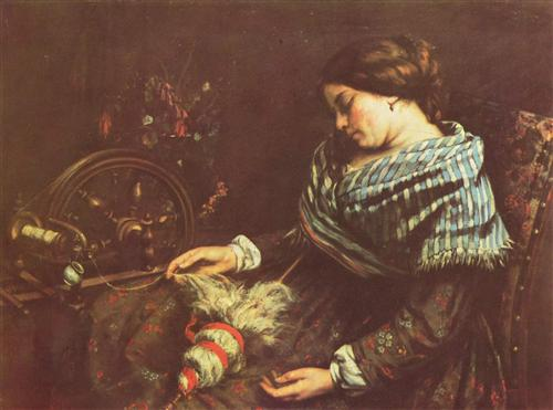 The Sleeping Embroiderer - Gustave Courbet