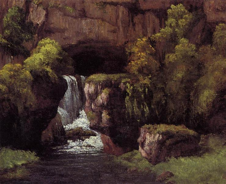 The Source of the Lison, 1866 - Gustave Courbet