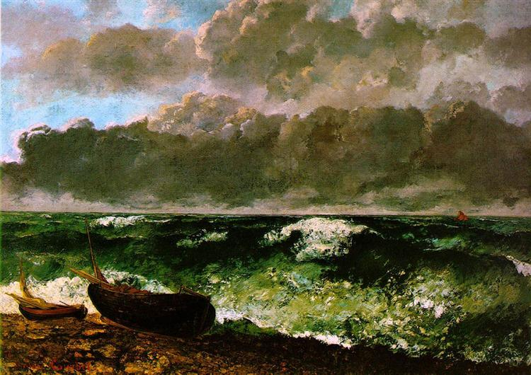 The Stormy Sea, 1869 - Gustave Courbet