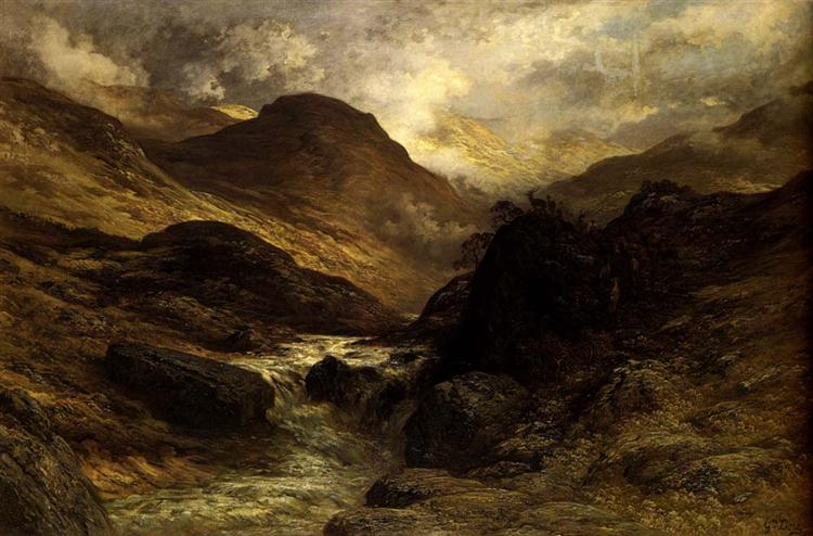 A Canyon - Gustave Dore
