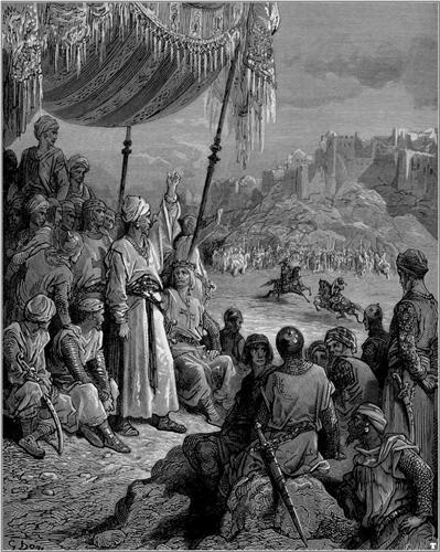 A Friendly Tournament during the Third Crusade in 1189 - Gustave Dore