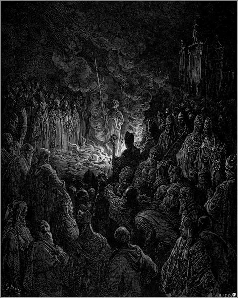 Barthelemi undergoing the Ordeal of Fire - Dore Gustave