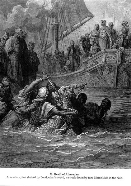 Death of Almoadam, 1877 - Gustave Dore