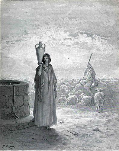Jacob Keeping Laban's Flock - Gustave Dore