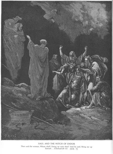 Saul and the Witch of Endor - Gustave Dore