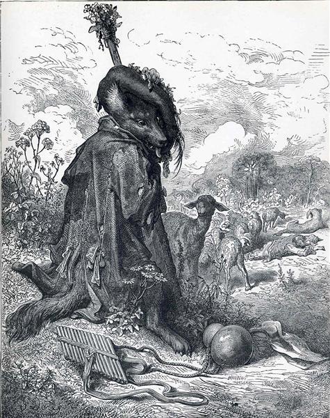Shepherd wolf - Gustave Dore